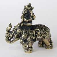 Ganesha on three headed elephant 4.5 cm