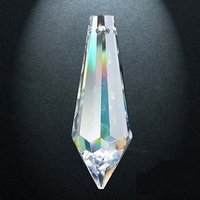 Rainbow crystal drop, 38 x 14 mm (60)