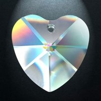 Rainbow crystal heart, 40 mm (20)