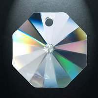 Rainbow crystal Octagon, 14 mm (100)