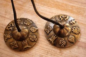 Tingsha (brass) -Lucky symbols