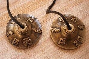 Tingsha (bronze) -Aum mantra