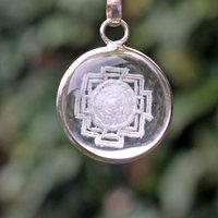 Yantra pendant crystal