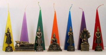 Birthday Buddha goldcoloured (whole week) -with candle