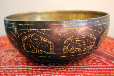 Engraved singing bowl